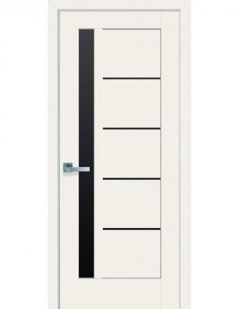 Дверь Ностра Грета магнолия с черным стеклом