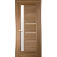 Двері Ностра Грета золота вільха зі склом сатин