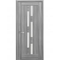 Двері Ностра Лаура бук попелястий зі склом сатин