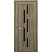 Двері Ностра Лаура золотий дуб з чорним склом