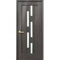 Двері Ностра Лаура grey зі склом сатин