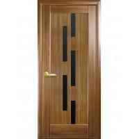 Двері Ностра Лаура золота вільха з чорним склом