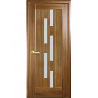 Двері Ностра Лаура золота вільха зі склом сатин