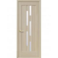 Двері Ностра Лаура патина зі склом сатин