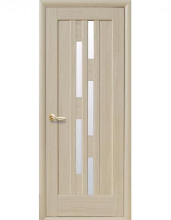 Дверь Ностра Лаура патина со стеклом сатин