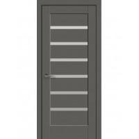 Двері Ностра Линнея антрацит зі склом сатин