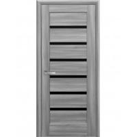 Двері Ностра Линнея бук попелястий зі склом сатин