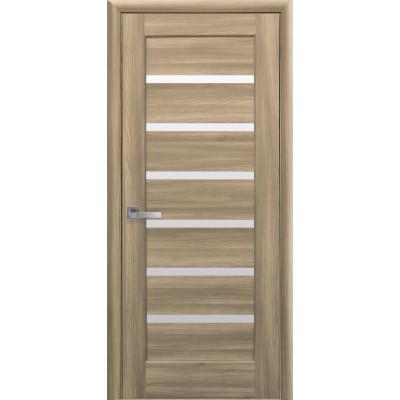 Дверь Ностра Линнея золотой дуб со стеклом сатин