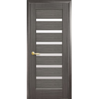 Двері Ностра Линнея grey зі склом сатин