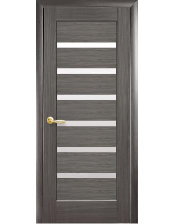 Дверь Ностра Линнея grey со стеклом сатин