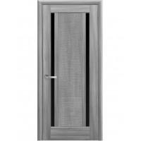 Двері Ностра Луиза бук попелястий з чорним склом