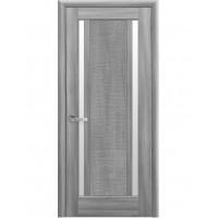 Двері Ностра Луиза бук попелястий зі склом сатин