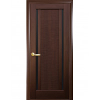 Двері Ностра Луиза каштан з чорним склом