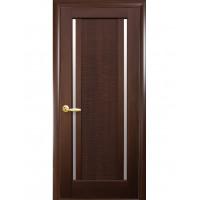 Двері Ностра Луиза каштан зі склом сатин