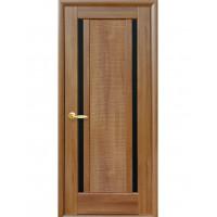 Двері Ностра Луиза золота вільха з чорним склом