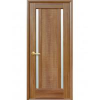 Двері Ностра Луиза золота вільха зі склом сатин