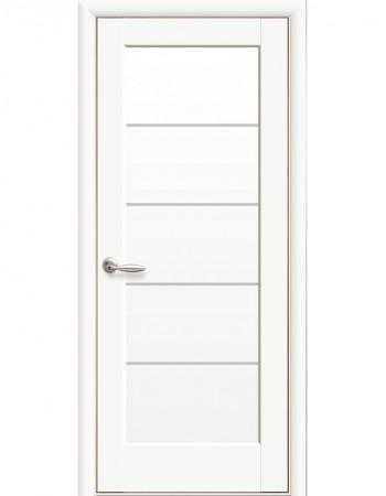 Дверь Ностра Мира белый матовый со стеклом сатин