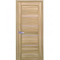 Двері Ностра Мира золотий дуб зі склом сатин