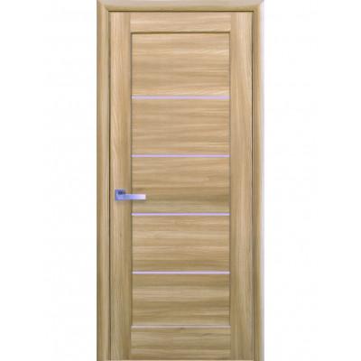 Дверь Ностра Мира золотой дуб со стеклом сатин