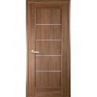 Двері Ностра Мира золота вільха зі склом сатин