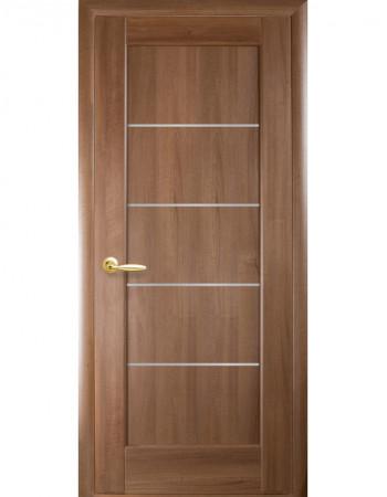 Дверь Ностра Мира золотая ольха со стеклом сатин