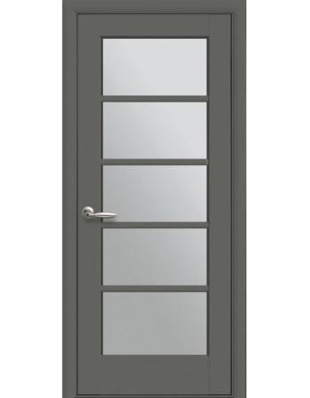 Двері Ностра Муза антрацит зі склом сатин