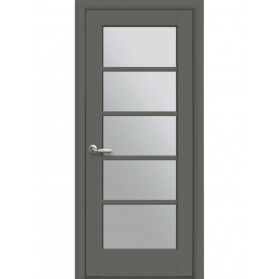 Дверь Ностра Муза антрацит со стеклом сатин