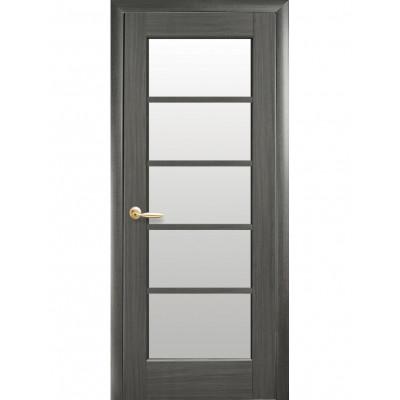 Дверь Ностра Муза grey со стеклом сатин