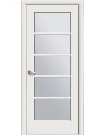 Дверь Ностра Муза магнолия со стеклом сатин