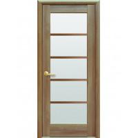 Двері Ностра Муза золота вільха зі склом сатин