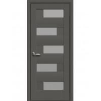 Двері Ностра Пиана антрацит зі склом сатин
