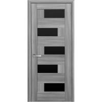 Двері Ностра Пиана бук попелястий з чорним склом