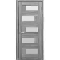 Двері Ностра Пиана бук попелястий зі склом сатин