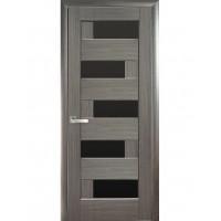 Двері Ностра Пиана grey з чорним склом