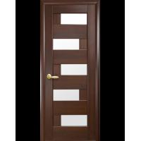 Двері Ностра Пиана каштан зі склом сатин