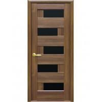 Дверь Ностра Пиана золотая ольха с черным стеклом