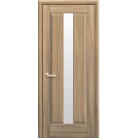Двері Маестра Премьера золотий дуб зі склом сатин