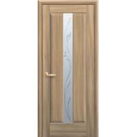 Двері Маестра Премьера золотий дуб зі склом сатин і малюнком P2