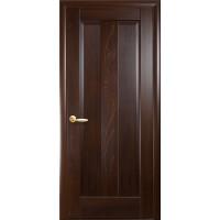 Двері Маестра Премьера каштан глухі з гравіюванням