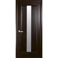 Двері Маестра Премьера каштан зі склом сатин