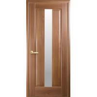 Двері Маестра Премьера золота вільха зі склом сатин