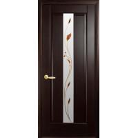Двері Маестра Премьера венге new зі склом сатин і малюнком P1