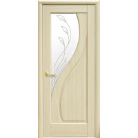 Двері Маестра Прима ясен new зі склом сатин і малюнком Р2