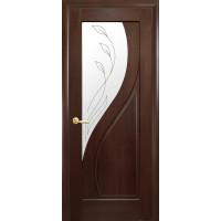 Двері Маестра Прима каштан зі склом сатин і малюнком Р2