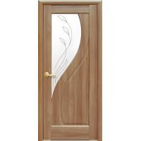 Двері Маестра Прима золота вільха зі склом сатин і малюнком Р2