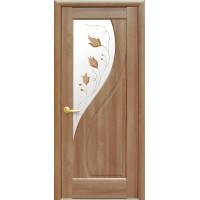 Двері Маестра Прима золота вільха зі склом сатин і малюнком Р1