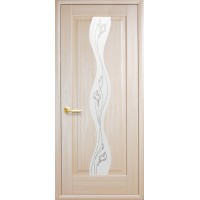 Двері Маестра Волна ясен new зі склом сатин і малюнком Р2