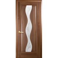 Двері Маестра Волна золота вільха зі склом сатин і малюнком Р2