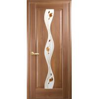 Двері Маестра Волна золота вільха зі склом сатин і малюнком Р1