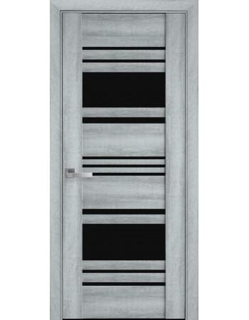 Двери Новый Стиль Ницца Бук кашемир с черным стеклом